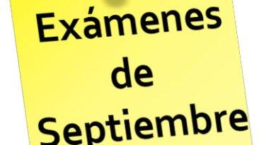 Exámenes de Septiembre